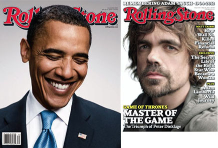 Rolling Stone Obama and games of thrones